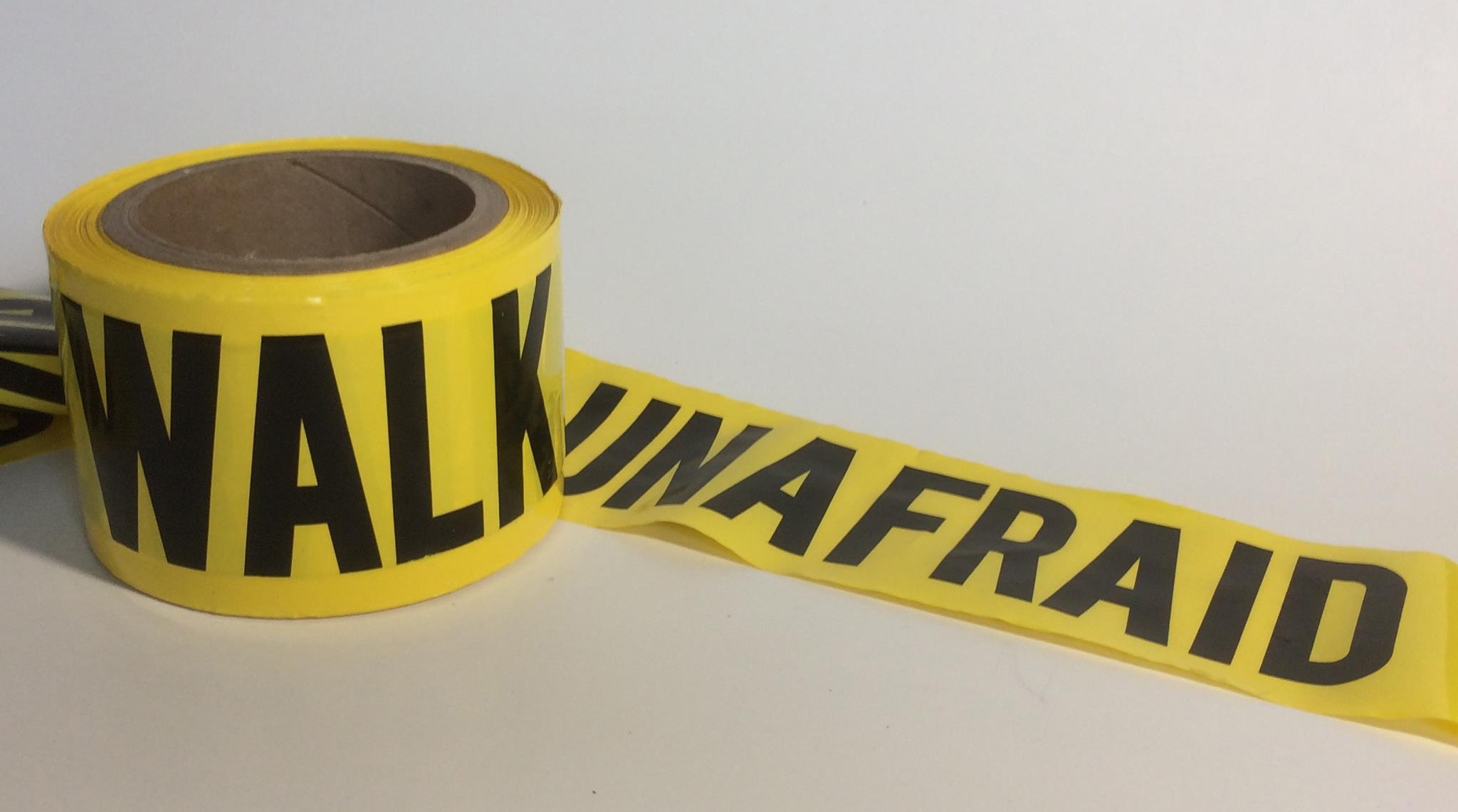walk unafraid tape horizontal